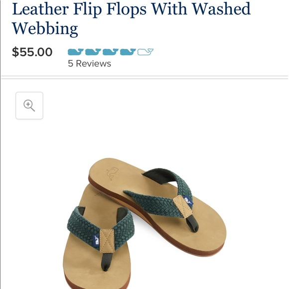 632570f6bdea NWT Vineyard Vines Leather   Braided Sandals NWT
